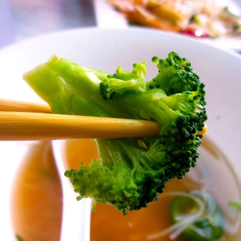 How fitting that there was broccoli in my phở while I was reviewing it for The Broccoli Bulletin!
