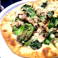 Spinach V. Alfredo Pizza from Gepetto's Pizza Truck. Extremely satisfying.
