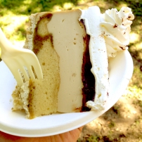 A slice of gluten-free tiramisu cheesecake from Reverie Bakeshop! I wasn't crazy about the middle layer of this cheesecake, to be honest, but I absolutely loved the whipped topping and the spongey cake at the bottom.