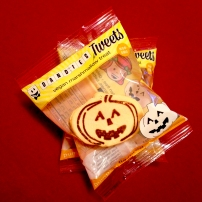 Pumpkin-flavored marshmallow treats from Chicago Vegan Foods. These were too cute—I couldn't resist getting a few to send to friends for Halloween.