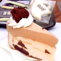 Brownie cheesecake from Reverie Bakeshop. How does something that is gluten-free and vegan still manage to be so decadent?