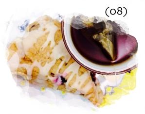 Winter Break Food Adventures | Blueberry Lemon Scone
