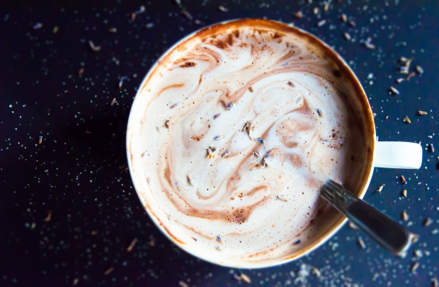 Gorgeous Lavender Hot Chocolate