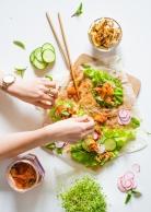 Tofu Kimchi Lettuce Wraps
