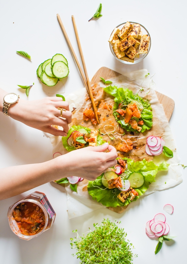 Kimchi & Tofu Lettuce Wraps | plantcrush.co