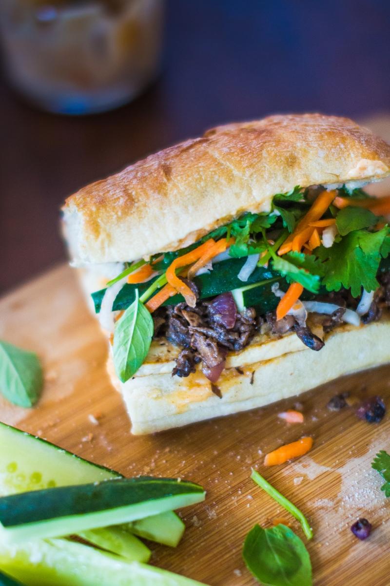 Shredded Mushroom + Tofu Bánh Mì