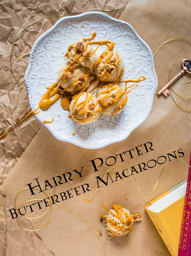 Harry Potter Butterbeer Macaroons | PlantCrush.co x ThePlantStrongVegan.com