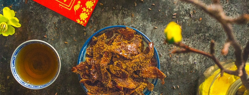 Lemon Lavender Candied Ginger (Mứt Gừng) for Chinese New Year (Tết) | plantcrush.co
