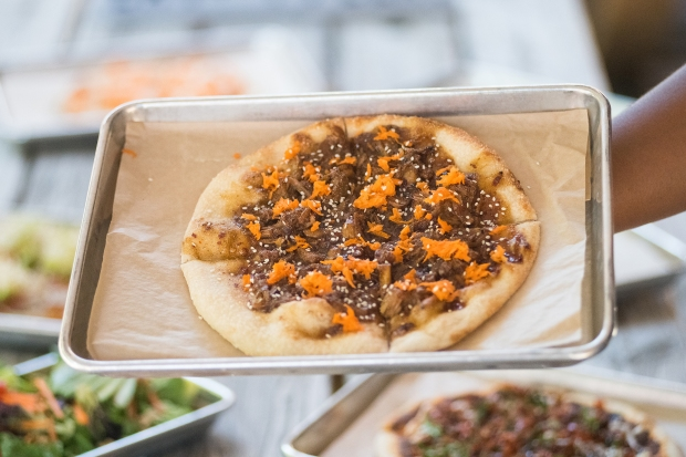 Tutta's Orange Jackfruit Pizza | Photo by AKH Digital